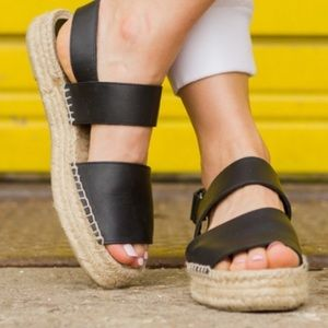 Vince Leather Espadrille Sandals